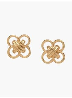 Double-Knotted O-Ring Earrings
