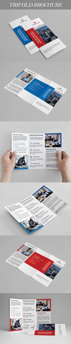 #Trifold #Brochure - Brochures Print Templates Download here: https://graphicriver.net/item/trifold-brochure/20474451?ref=alena994
