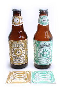 Tresor Brewery by Tyler Kruger, via Behance