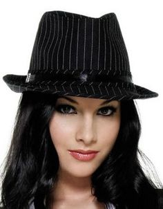 c6654fa65d58 Black wide brimmed cotton Fedora Hats For Women gallery here. Different hats  and dresses fashion ideas.