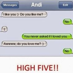 This is so mean and funny at the same time flirting text messages, awkward text