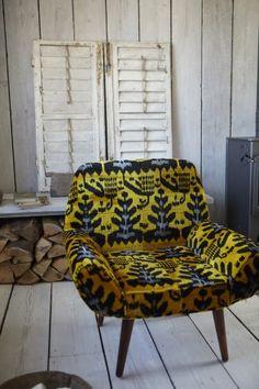 Golden Ikat Chair