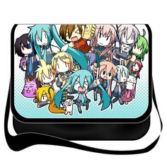 Shoulder Bag with Japanese Anime Miku Vocaloid Miku Hatsune Removable/renewable/replaceable Cover
