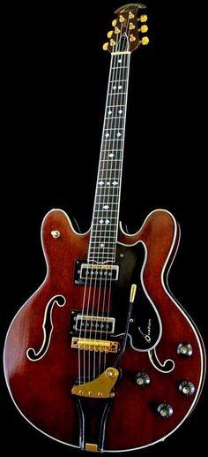"70's Ovation ""Thunderhead Deluxe"" Archtop Guitar --- https://www.pinterest.com/lardyfatboy/"