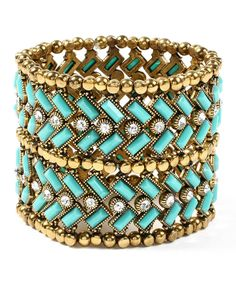Passion For Fashion Turquoise Dreams| Serafini Amelia| Turquoise & Gold Bracelet.