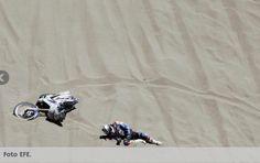 Dakar 2014 - caída moto
