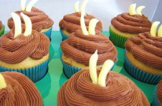 banana's for chocolate cupcake - jungle theme