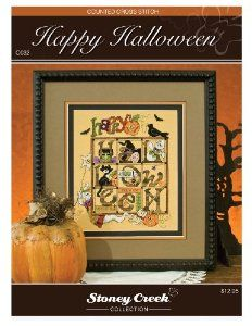 Amazon.com: Stoney Creek Counted Cross Stitch Pattern Book: Happy Halloween: Home & Kitchen