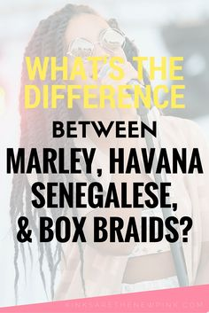 A look at the differences between marley twists, havana twists, senegalese twists, and box braids. #naturalhair