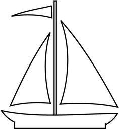 Sailboat Pattern Use The Printable Outline For Crafts