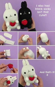 Plushies are some of every kid's favorite toys. Some have trouble saying goodbye to their favorite stuffed creatures even as adults. Of course, you can Kids Crafts, Sock Crafts, Cute Crafts, Diy And Crafts, Craft Projects, Sewing Projects, Sewing Ideas, Sewing Crafts, Diy Toys Easy