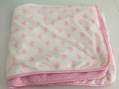 Carters Child of Mine Pink White Hearts Baby Blanket Sherpa Love Lovey Security | eBay