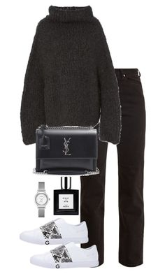 Untitled #4992 by theeuropeancloset on Polyvore featuring Lauren Manoogian, Eve Denim and Yves Saint Laurent