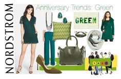 """""""Anniversary Trends: Green"""" by nordstrom ❤ liked on Polyvore featuring moda, Chelsea28, Nordstrom, Rizzy Home, Danielle Nicole, Tasha, Halogen, Trina Turk, Oliver Gal Artist Co. y Sam Edelman"""