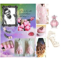 Date whith harry :3 by katie-styles4u on Polyvore featuring Sweet Princess, Charlotte Olympia, Revlon, OneDirection and directioner