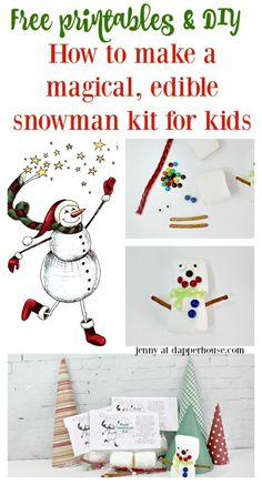 DIY Magical edible snowman for kids - jenny at dapperhouse  https://ooh.li/e512ddc