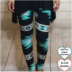 Aztec Leggings Cute and comfy. Soft! Stretchy. Bundle with black top I am wearing! One size fits most.  ❤️ Fits standard sizes and measurements ❤️ Additional discount option in last photo ❤️ This item is available Pants Leggings