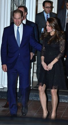 Kate Middleton completed her Beulah London dress with Stuart Weitzman pumps and a Mulberry clutch.