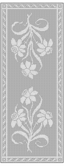 Free filet crochet table runner diagram chart pattern plus many filet crochet table runner free chart pattern ccuart Choice Image