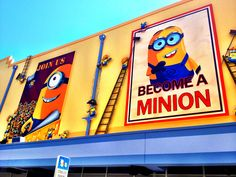 Recruiting Posters for Minion Mayhem at Universal Studios Orlando