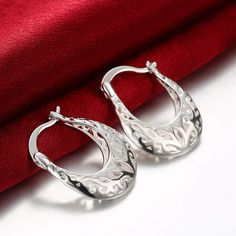 Weaved Stud STAMPED .925 Sterling Silver Plated Earring SHOP ONLINE