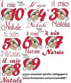 "Photo from album ""Schemi - Natalia/ Схемы - Natalia"" on Yandex. Christmas Cross, Xmas, Fizzy Moon, Cross Stitch Patterns, Minnie Mouse, Album, Embroidery, Yandex Disk, Alphabet"