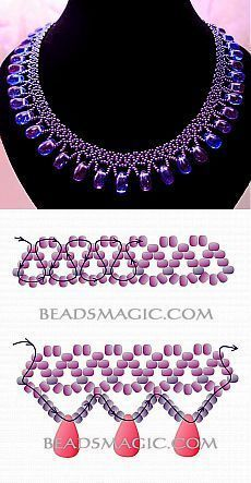 Perlenschmuck Greatest Seed Bead Jewellery 2017 Free Information for Pearl Necklace Galaxy Beaded Necklace Patterns, Seed Bead Patterns, Beaded Jewelry Patterns, Beaded Necklaces, Bracelet Patterns, Beading Patterns Free, Free Beading Tutorials, Beaded Bead, Loom Patterns
