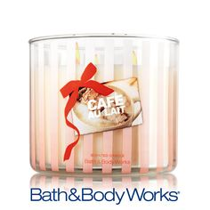 NEW Cafe Au Lait 3-Wick Candle — bring Paris to your home with this café inspired blend of warm caramel, brown sugar and creamy vanilla <3    #LUVBBW