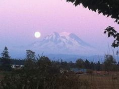 Mt Rainier from Yelm, WA- My sister lived in Yelm one of the times I went out to visit.