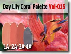 Coral Lily Polymer Clay Color Palette