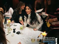 Fun dinner: Kim shared photos of daughter North during dinner with her family and friends...