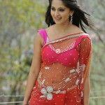 indian actress Anushka hot Pics in saree From Damarukam Movie