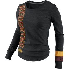 Women's Washington Redskins Nike Black Wordmark T-Shirt