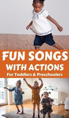 Get kids moving with these fun songs and rhymes for toddlers and preschoolers with actions and movement. Perfect for when you are stuck indoors and want to use up some of the kids energy. Music Activities For Kids, Numeracy Activities, Literacy And Numeracy, Motor Skills Activities, Preschool Songs, Preschool Learning Activities, Music For Kids, Toddler Preschool, Preschool Activities