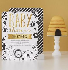 There's a new bee in the beehive. Create baby shower invitations for the little bee. | TinyPrints