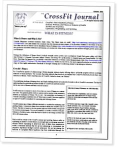 What is Fitness? by Greg Glassman - CrossFit Journal