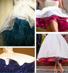 2016 2017 Pinterest Popular Retro Wedding Dress Petticoats Real Picture Rainbow…