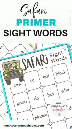 Sight Word bingo game for new readers