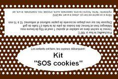 Etiquette et recette pour SOS cookies