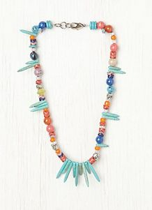 Colorful Turquoise Spike Necklace