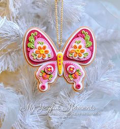 Handcrafted+Polymer+Clay++Butterfly+Ornament+by+MyJoyfulMoments