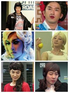 Shinhwa as pretty ladies..
