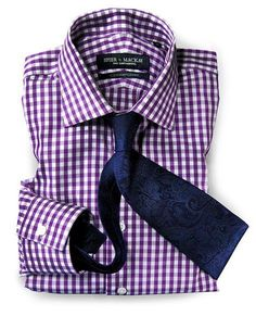 For sartorial splendor, nothing beats a handmade shirt. Wouldn't your fella look… Suit Fashion, Work Fashion, Fashion Outfits, Mens Fashion, Purple Fashion, Cute Teen Outfits, Casual Outfits, Men Casual, Business Attire