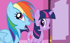 Rainbow Dash and Twilight Sparkle HD Wallpaper