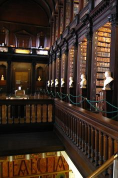 Trinity College Library at University of Dublin — Dublin, Ireland | Community Post: 49 Breathtaking Libraries From All Over The World