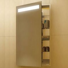 Luminous Left Recessed Medicine Cabinet   Electric Mirror at Lightology