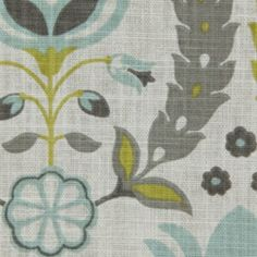 Ornate Frame Pool Floral Cotton Drapery Fabric by Robert Allen - Drapery Fabrics at Buy Fabrics