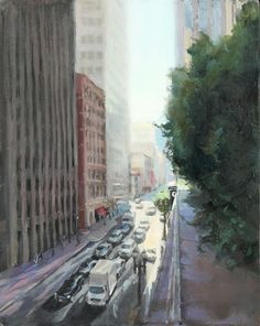 20x16, Looking Down at Sutter, oil