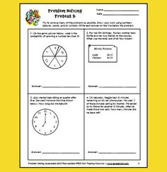 Here's a 22-page problem solving assessment pack that includes a pretest and a posttest. Each test requires students to draw pictures to show how they are solving the problems.