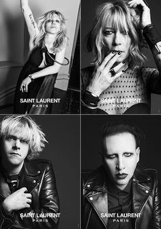 Courtney Love And Other Musicians Front Saint Laurent Campaign